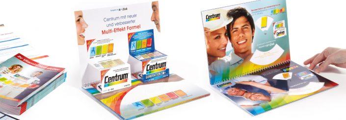 CENTRUM Pfizer, Werbeagentur Linz. Produktdesign, Mailings, Folder, Grafikdesign - Full Service Agentur