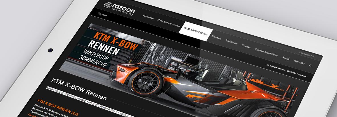 KTM X-Bow Werbeagentur Linz betreut KTM X-Bow. Wordpress Website, WooCommerce Shop