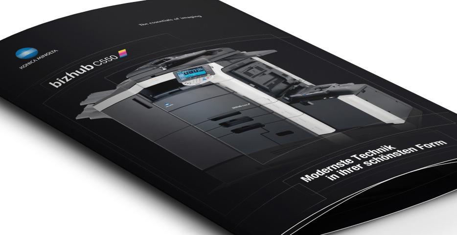 Referenzen Werbeagentur hanner inc. Konica Minolta Folder schwarz
