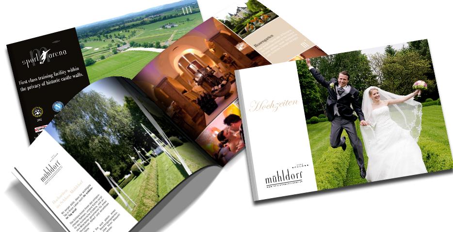 Referenzen Werbeagentur hanner inc. Grafik und Design Hotel Schloss Mühldorf