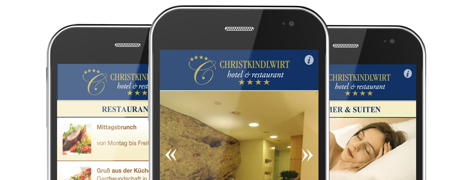 Referenzen Werbeagentur hanner inc. Online und Mobile Hotel Christkindlwirt****