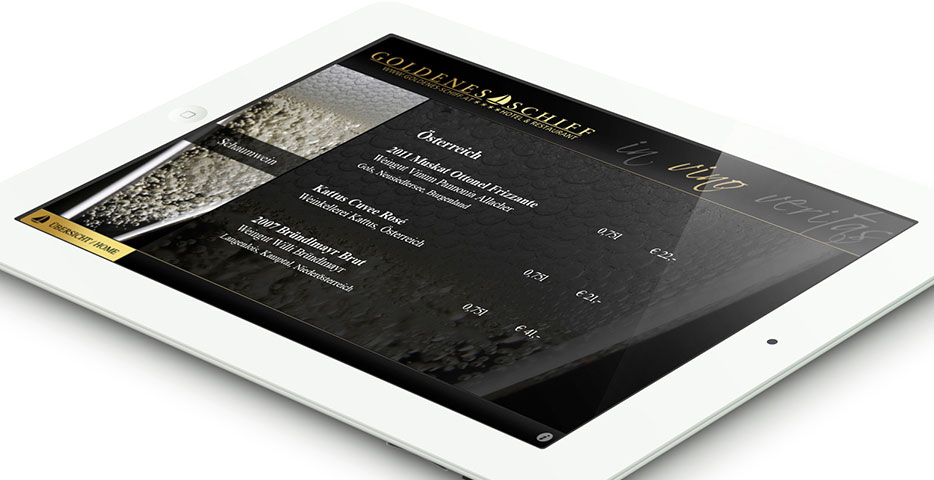 Referenz Werbeagentur hanner inc. Restaurant Goldenes Schiff App