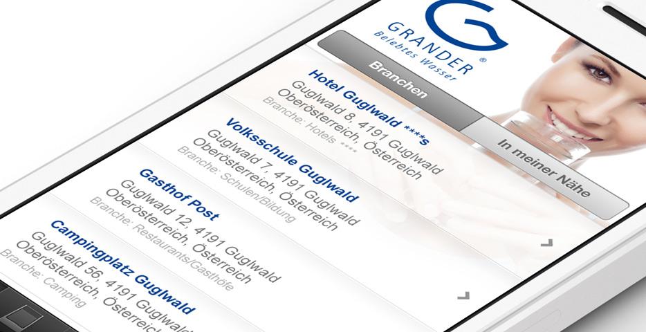 Referenzen Werbeagentur hanner inc. Grander Trinkberater App