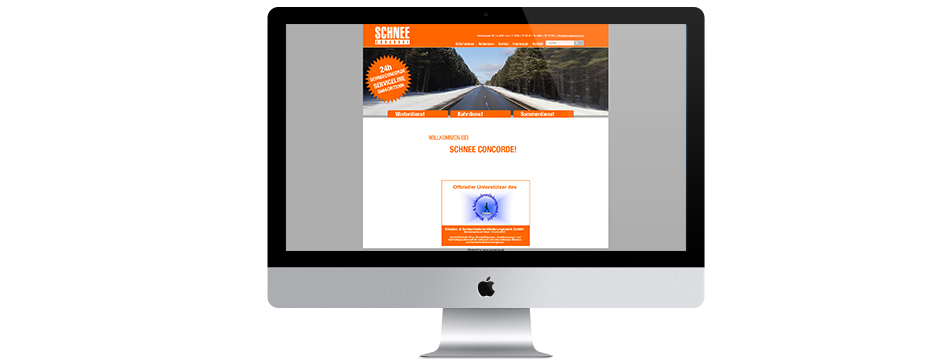 Referenzen Werbeagentur hanner inc. Wordpress Website Schnee Concorde