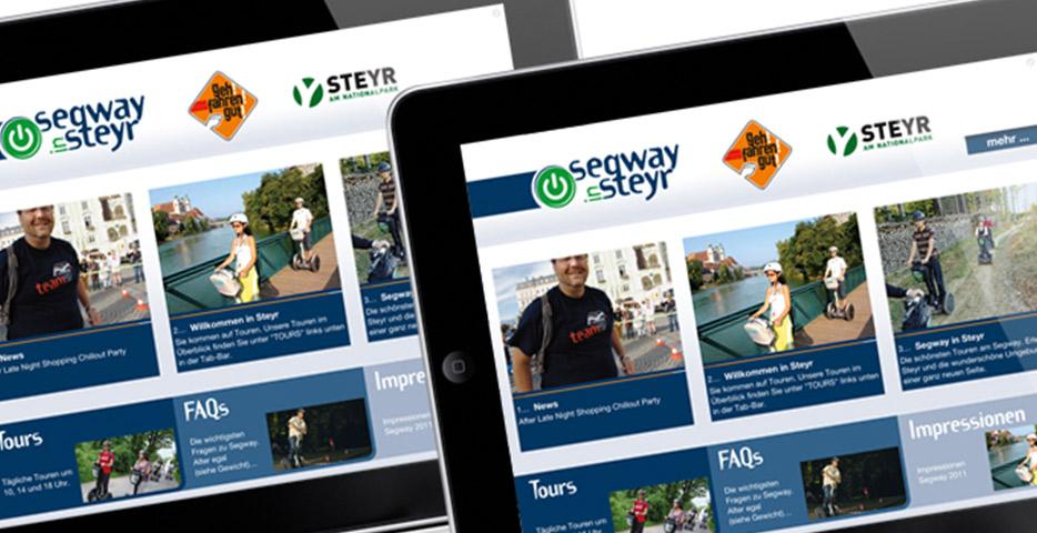 Referenzen Werbeagentur hanner inc. Online und Mobile Segway in Steyr