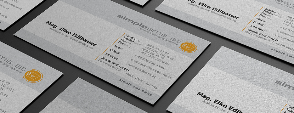 Referenzen Werbeagentur hanner inc. Grafik und Design Simple SMS