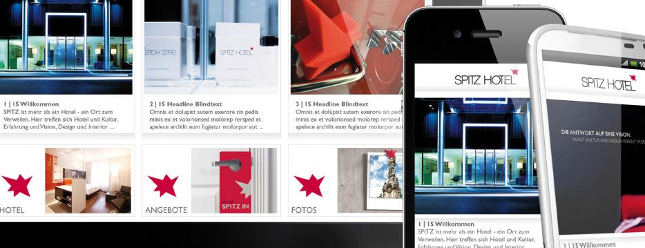Referenzen Werbeagentur hanner inc. Online und Mobile Spitz Hotel