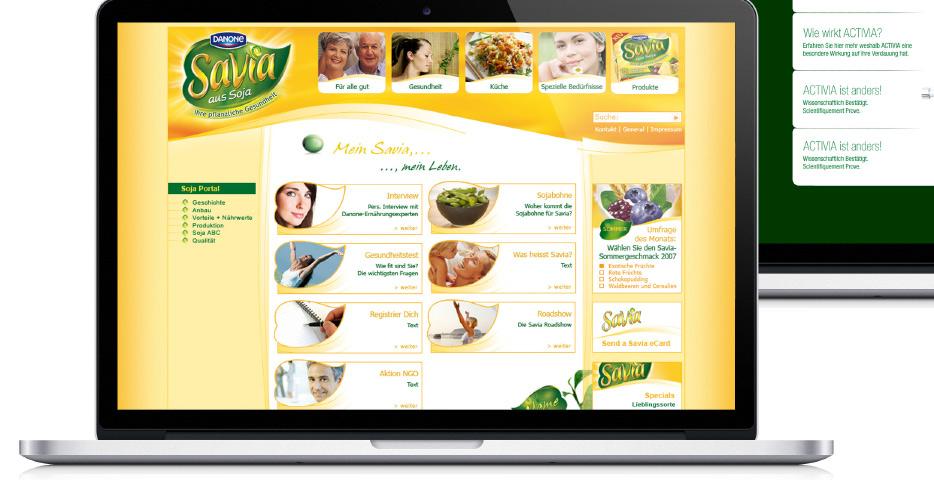 Referenzen Werbeagentur hanner inc. Wordpress Website danone