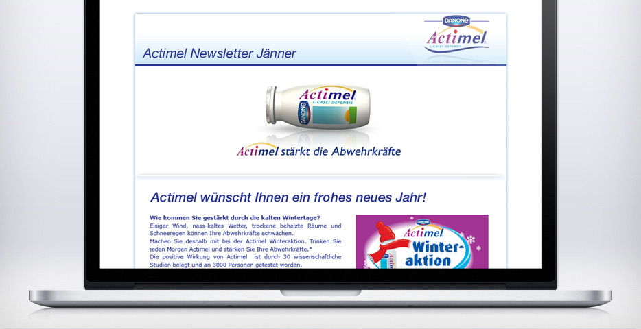 Referenzen Werbeagentur hanner inc. Wordpress Website danone