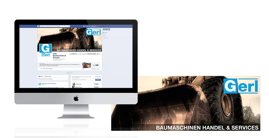 Referenzen Werbeagentur hanner inc. Social Media Gerl Baumaschinen