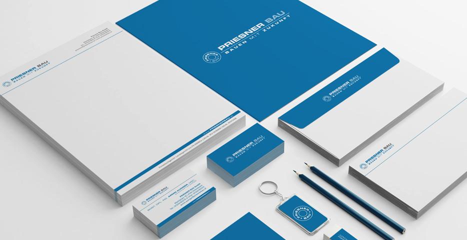 Referenzen Werbeagentur hanner inc. Grafik und Design Priesner Bau