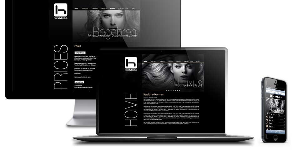 Referenzen Werbeagentur hanner inc. Online und Mobile WordPress Websites hairstyleclub