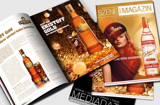 Grafik und Design Werbeagentur Linz hanner inc. Szene Fachmagazin