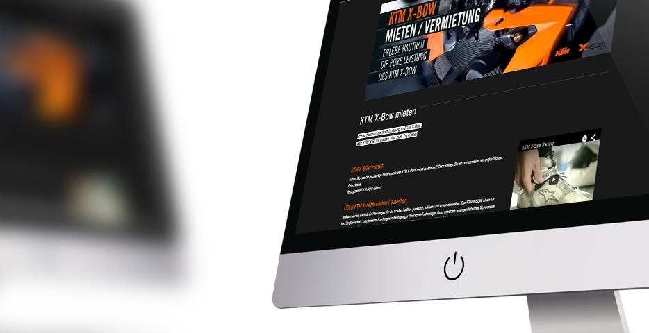 Online und Mobile Werbeagentur hanner inc. KTM X-BOW