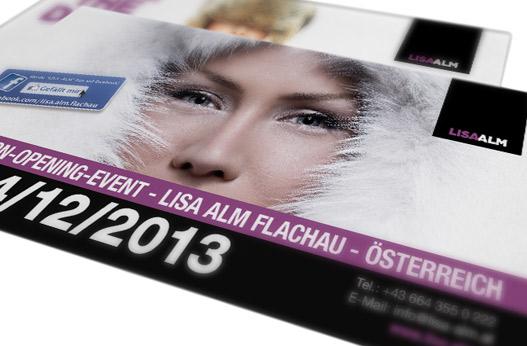 Grafik und Design Werbeagentur Linz hannerinc Lisaalm