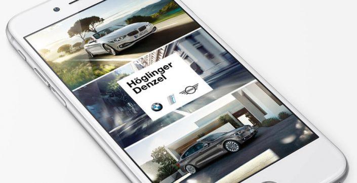 BMW App Online Agentur hannerinc. Linz / Walding. Onlineagentur