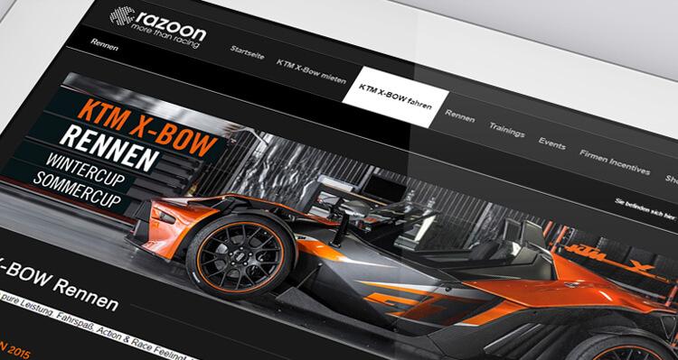 KTM X-Bow.at Webseite erstellt von der Online Agentur hanner inc. aus Linz - Walding