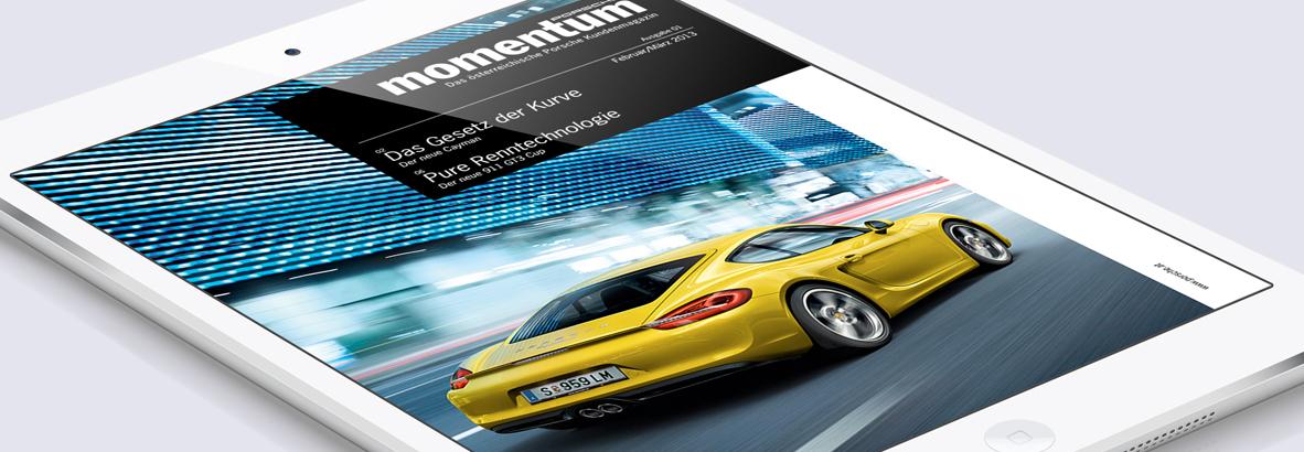 Porsche Momentum von der Werbeagentur Linz, hannerinc. GmbH. Onlineagentur, Grafikagentur, Full Service Agentur