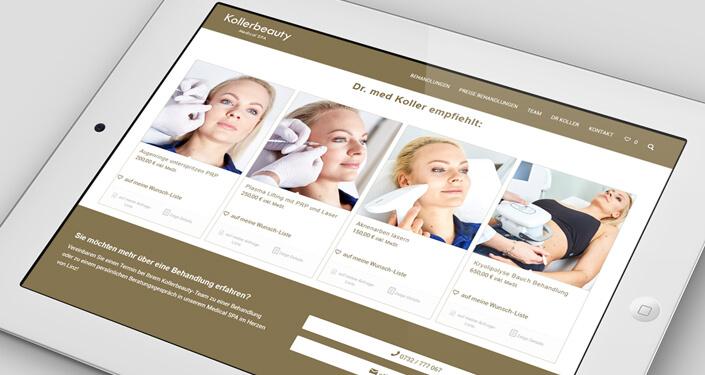 Online Shop Linz Kollerbeauty. Dr. Matthias Koller Werbeagentur. Plastische Chirurgie Werbung Werbeagentur Linz