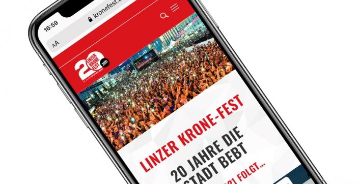 Referenz Kronefest Linz Webseite (Kronenzeitung) von hanner inc. GmbH Werbeagentur