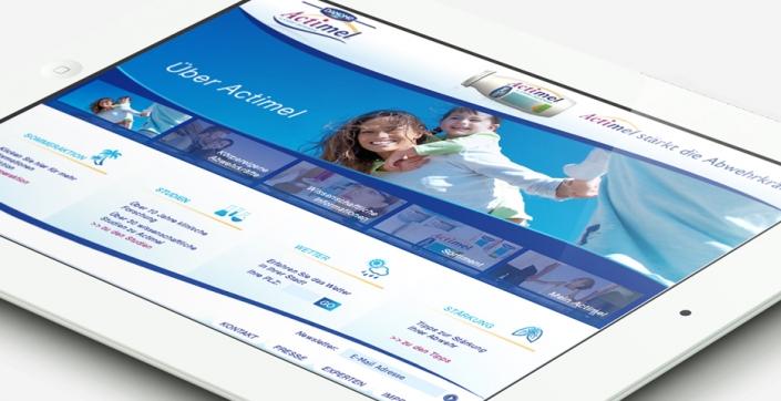 Danone Actimel Webdesign 2009 Werbeagentur hanner inc GmbH Linz