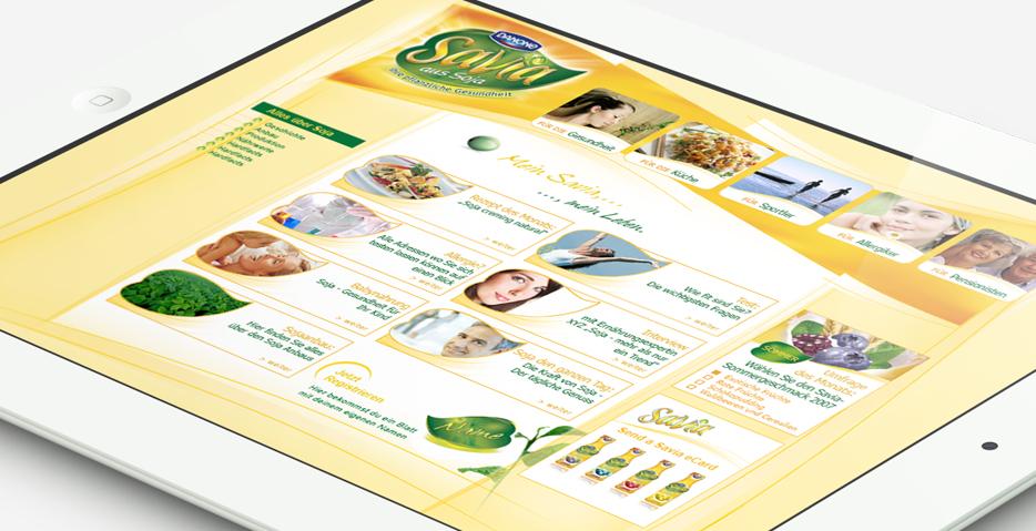 Danone Savia Webdesign 2009 Werbeagentur hanner inc GmbH Linz