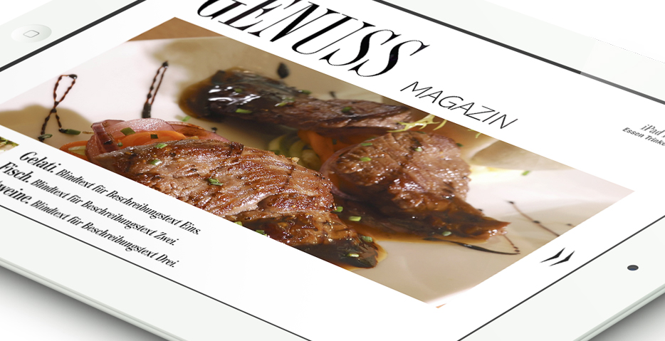Genuss Magazin by hanner inc. GmbH Werbeagentur
