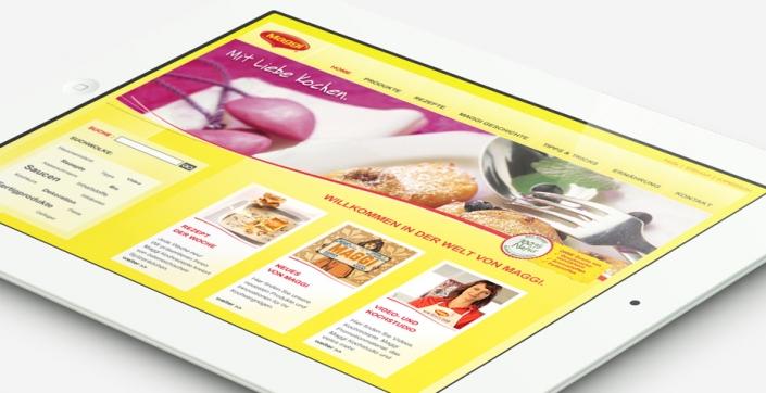 Maggi Referenz aus 2009 - Webdesign von hannerinc