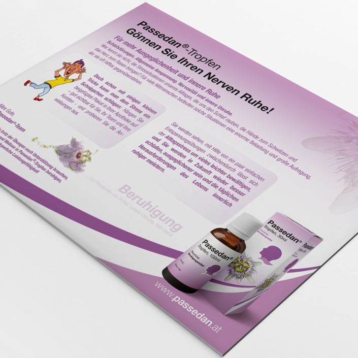 Passedan Tropfen Direct Mailing by hanner inc. GmbH Werbeagentur