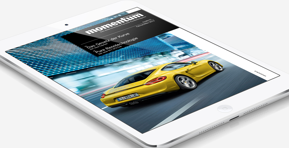 PORSCHE Momentum iPad Magazin erstellt von hanner inc. GmbH / App Company aus Walding