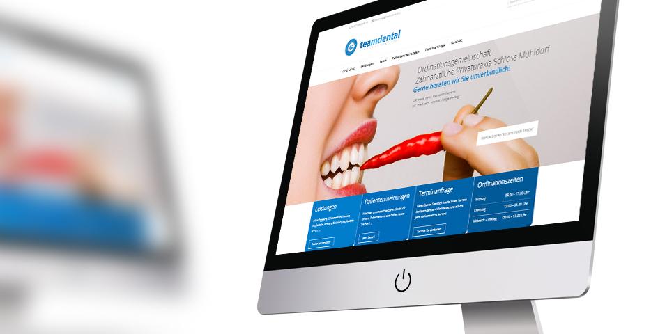 Team Dental by hanner inc. GmbH Werbeagentur, Werbung für Zahnärzte