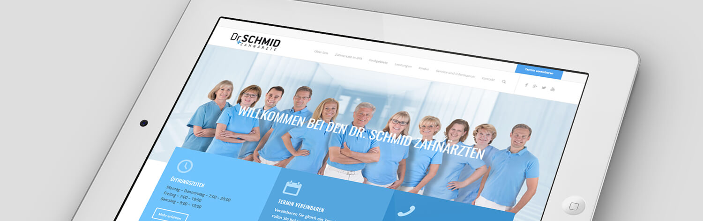Wordpress Website Dr. Dr. Schmid, DDR Schmid, Zahnärzte Deutschland. SEO, SEM, SEA, Suchmaschinen Optimierung, Suchmaschinen Marketing