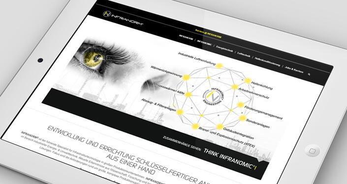 Wordpress Website Infranorm. Werbeagentur Webseite Infranorm. WordPress Werbeagentur Linz
