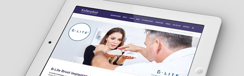 Wordpress Website Kollerplast. Ecommerce, SEO, SEA, SEM, Social Media Marketing und Werbung. Strategie & Marketing