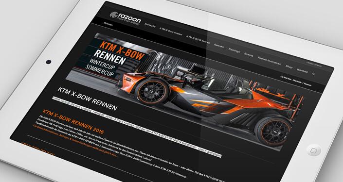 Wordpress Websites KTM Xbow. KTM Xbow Werbeagentur, Online Agentur ktm-xbow. Wordpress Online Shop