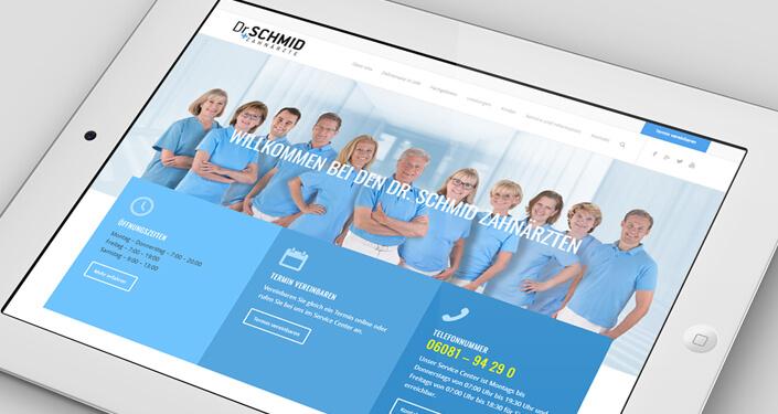 Wordpress Website Dr. Dr. Schmid. Onlineagentur Ärzte. Ärzte Suchmaschinen Optimierung Deutschland